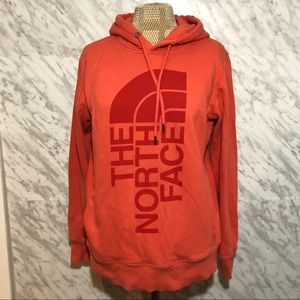 The North Face Hoodie Logo Pink Size Medium